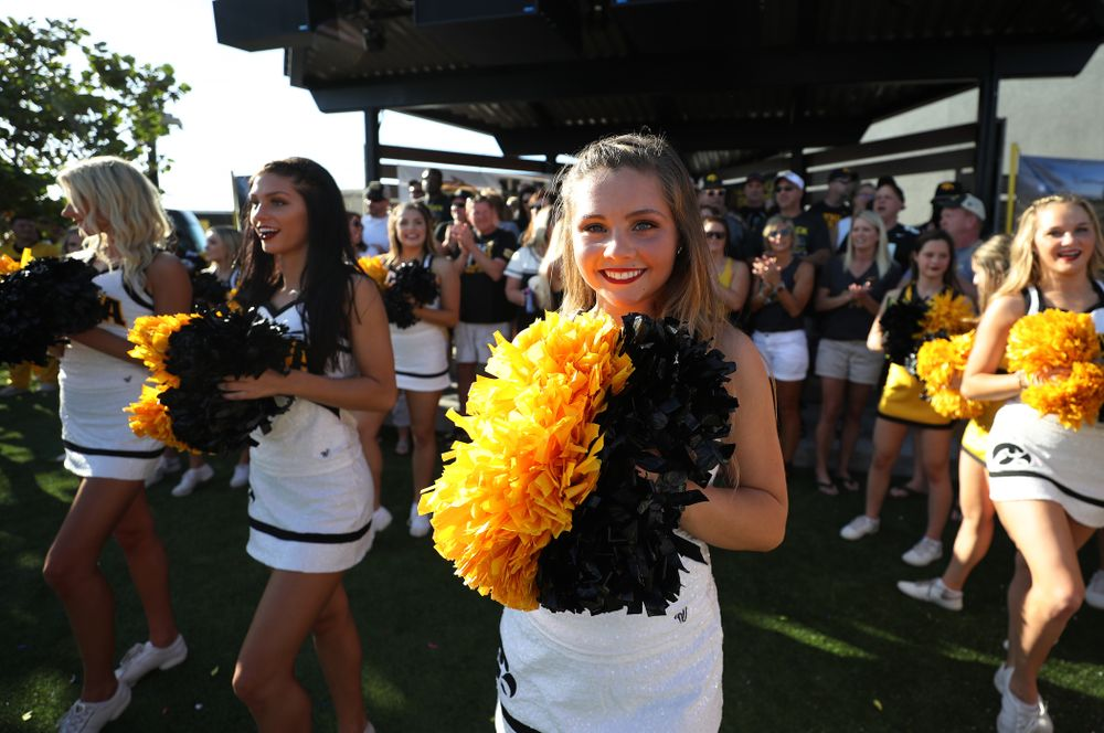 The Iowa Dance Team during the Hawkeye Huddle Monday, December 31, 2018 at Sparkman Wharf in Tampa, FL. (Brian Ray/hawkeyesports.com)