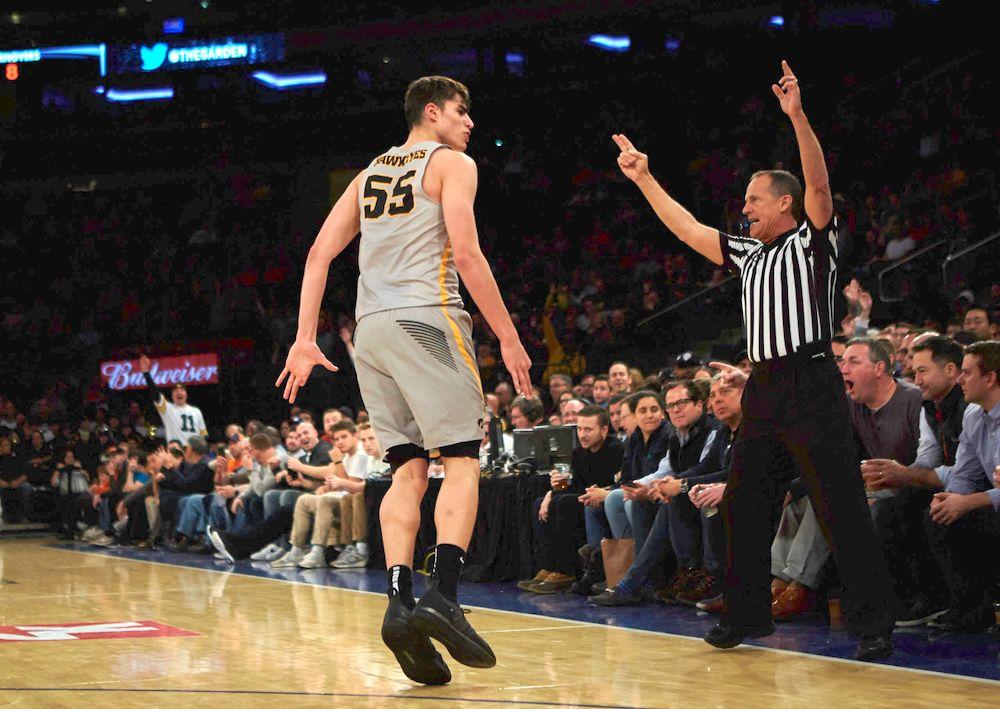 Luka Garza Iowa vs. UCONN Photo: Duncan Williams