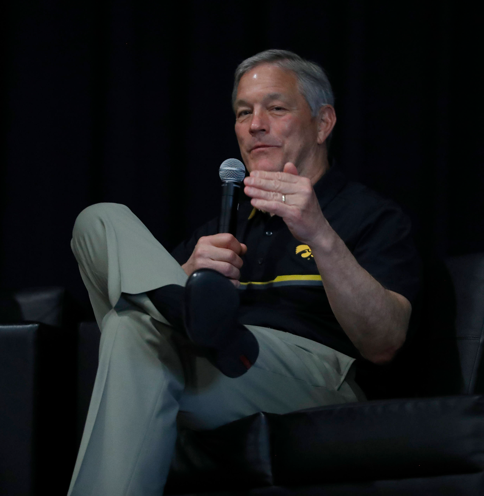 Kirk Ferentz -- Hawkeye Fan Event at the Quad-Cities Waterfront Convention Center in Bettendorf, Iowa, on May 15, 2019.
