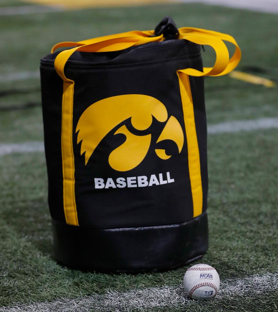 First baseball practice of the season Jan. 25, 2019. (Darren Miller/hawkeyesports.com)