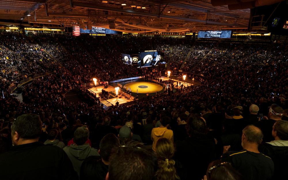 The Iowa Hawkeyes wrestle Ohio State Friday, January 24, 2020 at Carver-Hawkeye Arena. (Brian Ray/hawkeyesports.com)