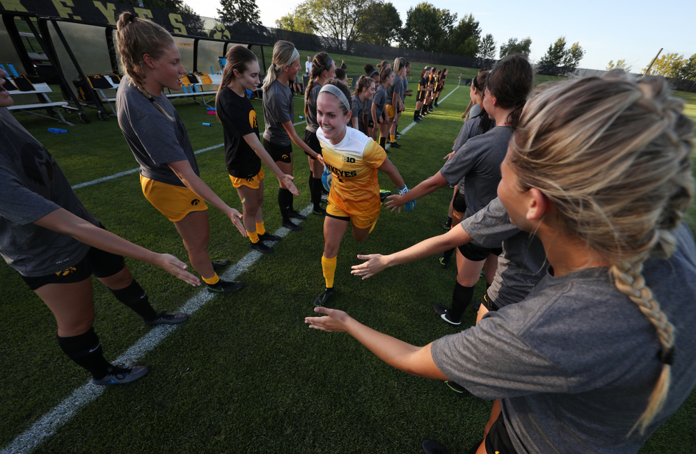Iowa Hawkeyes Claire Graves (1) against Western Michigan Thursday, August 22, 2019 at the Iowa Soccer Complex. (Brian Ray/hawkeyesports.com)