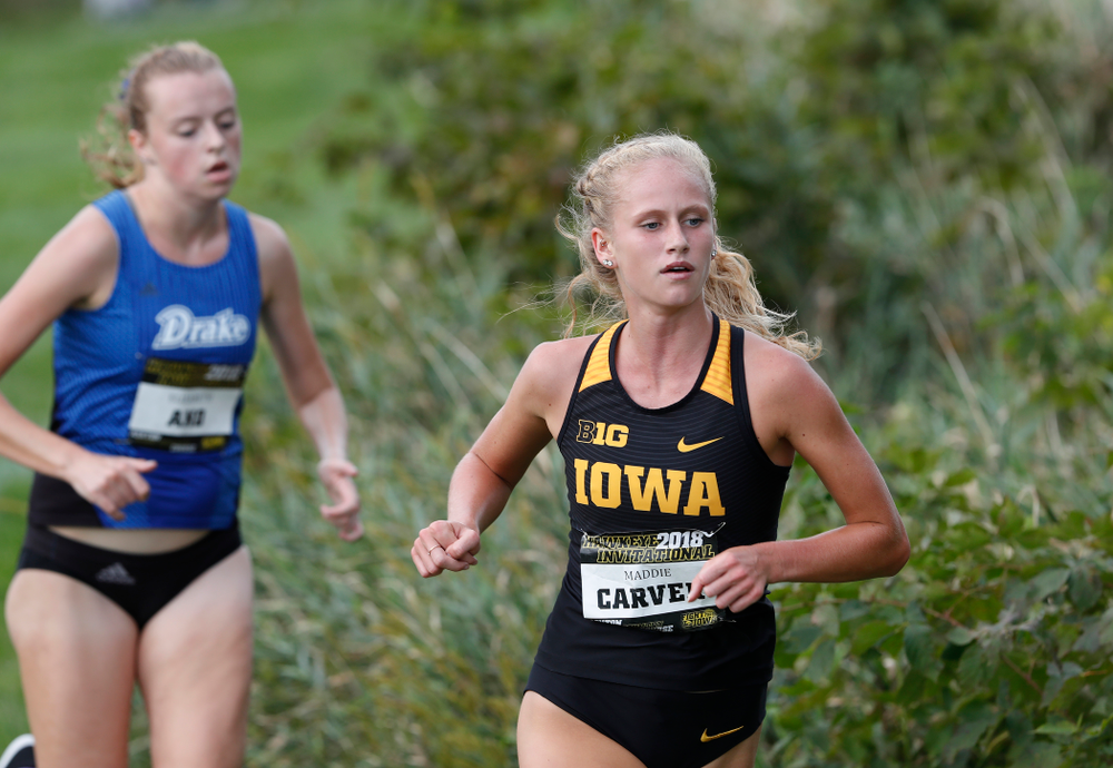 Maddie Carver during the Hawkeye Invitational Friday, August 31, 2018 at the Ashton Cross Country Course.  (Brian Ray/hawkeyesports.com)