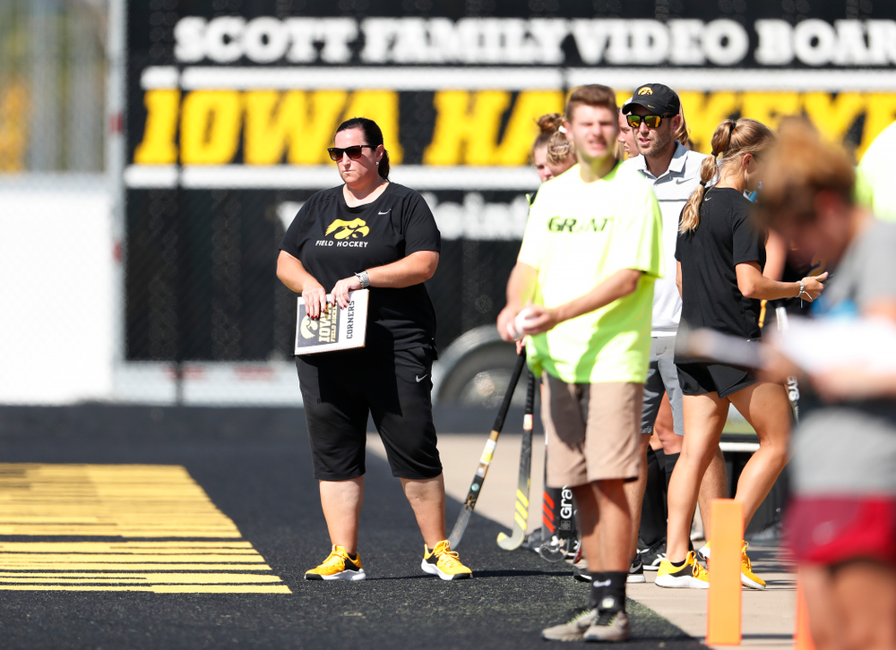 Iowa Hawkeyes head coach Lisa Cellucci against the Penn Quakers Friday, September 14, 2018 at Grant Field. (Brian Ray/hawkeyesports.com)