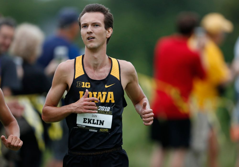Ian Eklin during the Hawkeye Invitational Friday, August 31, 2018 at the Ashton Cross Country Course.  (Brian Ray/hawkeyesports.com)