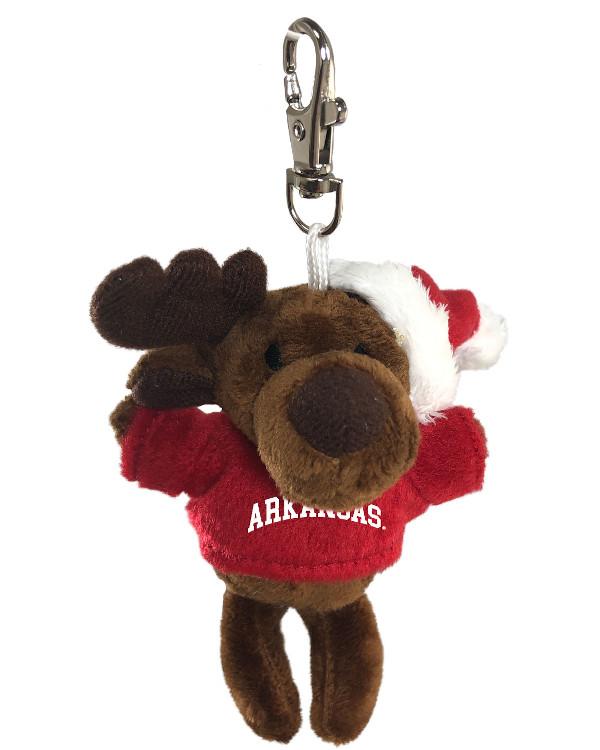 Arkansas Razorbacks Keychain Moose with