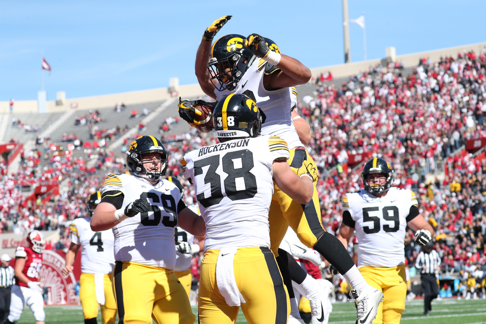 Iowa Hawkeyes running back Toren Young (28) against the Indiana Hoosiers Saturday, October 13, 2018 at Memorial Stadium, in Bloomington, Ind. (Max Allen/hawkeyesports.com)