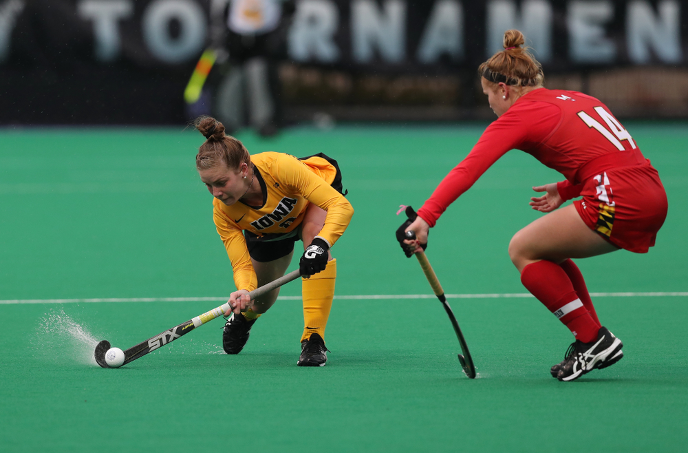 Iowa Hawkeyes Nikki Freeman (8) against Maryland during the championship game of the Big Ten Tournament Sunday, November 4, 2018 at Lakeside Field in Evanston, Ill. (Brian Ray/hawkeyesports.com)