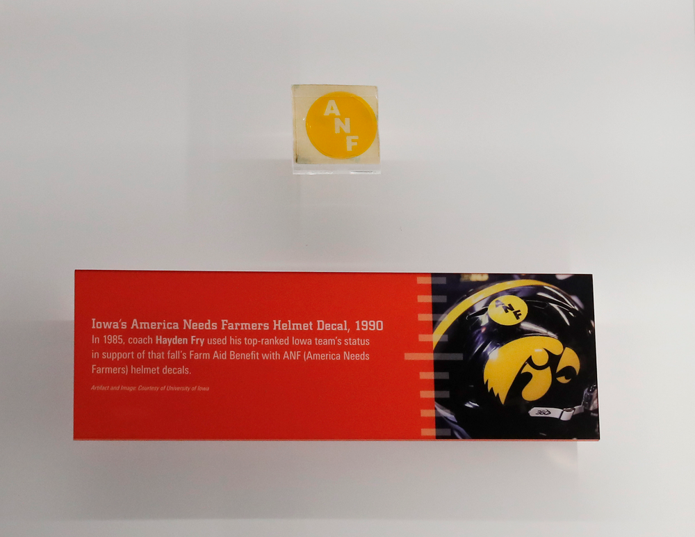 ANF sticker and information at the College Football Hall of Fame.