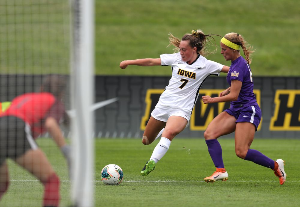 Iowa Hawkeyes forward Skylar Alward (7) during a 6-1 win over Northern Iowa Sunday, August 25, 2019 at the Iowa Soccer Complex. (Brian Ray/hawkeyesports.com)