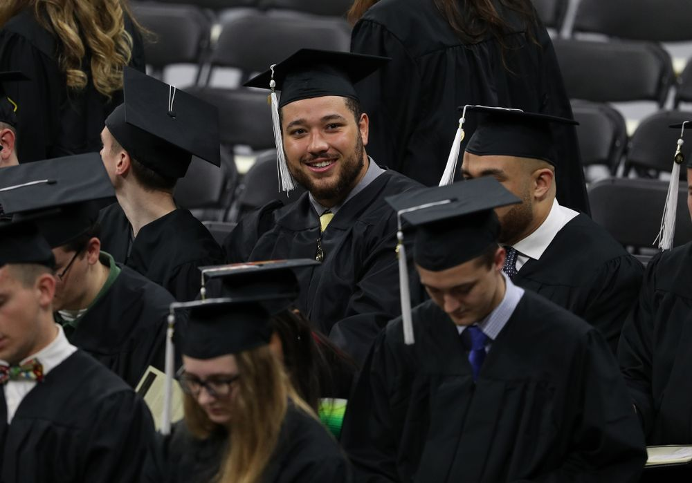 Iowa Fotoball's Dalton Ferguson during the Fall Commencement Ceremony  Saturday, December 15, 2018 at Carver-Hawkeye Arena. (Brian Ray/hawkeyesports.com)