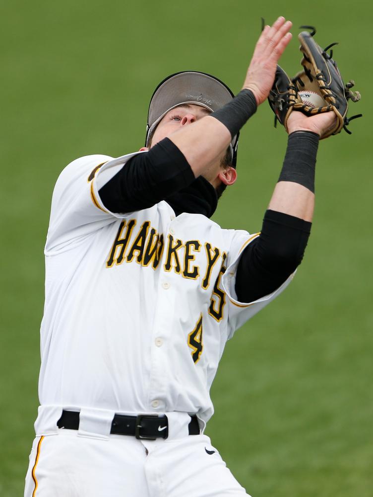 Iowa Hawkeyes infielder Mitchell Boe (4)