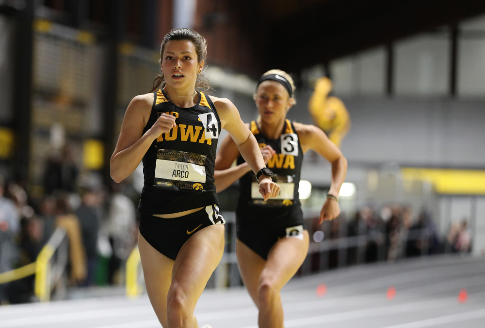 Iowa's Taylor Arco runs the 600 meter premier during the 2019 Larry Wieczorek Invitational Friday, January 18, 2019 at the Hawkeye Tennis and Recreation Center. (Brian Ray/hawkeyesports.com)