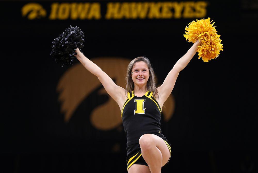 The Iowa Cheerleaders against the Nebraska Cornhuskers Thursday, January 3, 2019 at Carver-Hawkeye Arena. (Brian Ray/hawkeyesports.com)