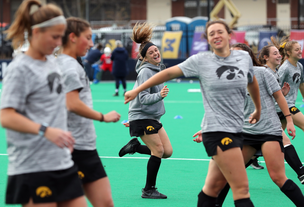 Iowa Hawkeyes forward Maddy Murphy (26) warms up for their game against Penn State in the 2019 Big Ten Field Hockey Tournament Championship Game Sunday, November 10, 2019 in State College. (Brian Ray/hawkeyesports.com)