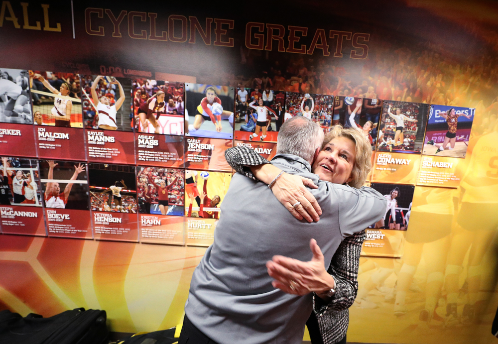 Iowa Hawkeyes head coach Lisa Bluder and Athletics Director Gary Barta against the Iowa State Cyclones Wednesday, December 11, 2019 at Hilton Coliseum in Ames, Iowa(Brian Ray/hawkeyesports.com)
