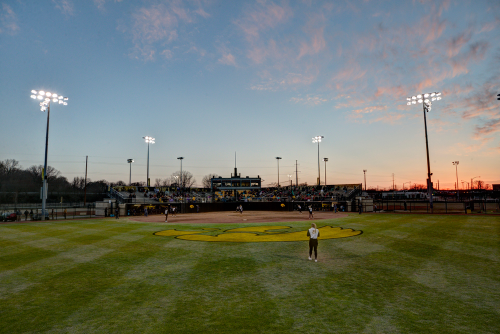The Iowa Hawkeyes against Western Illinois Tuesday, April 17, 2018 at Bob Pearl Field. (Brian Ray/hawkeyesports.com)