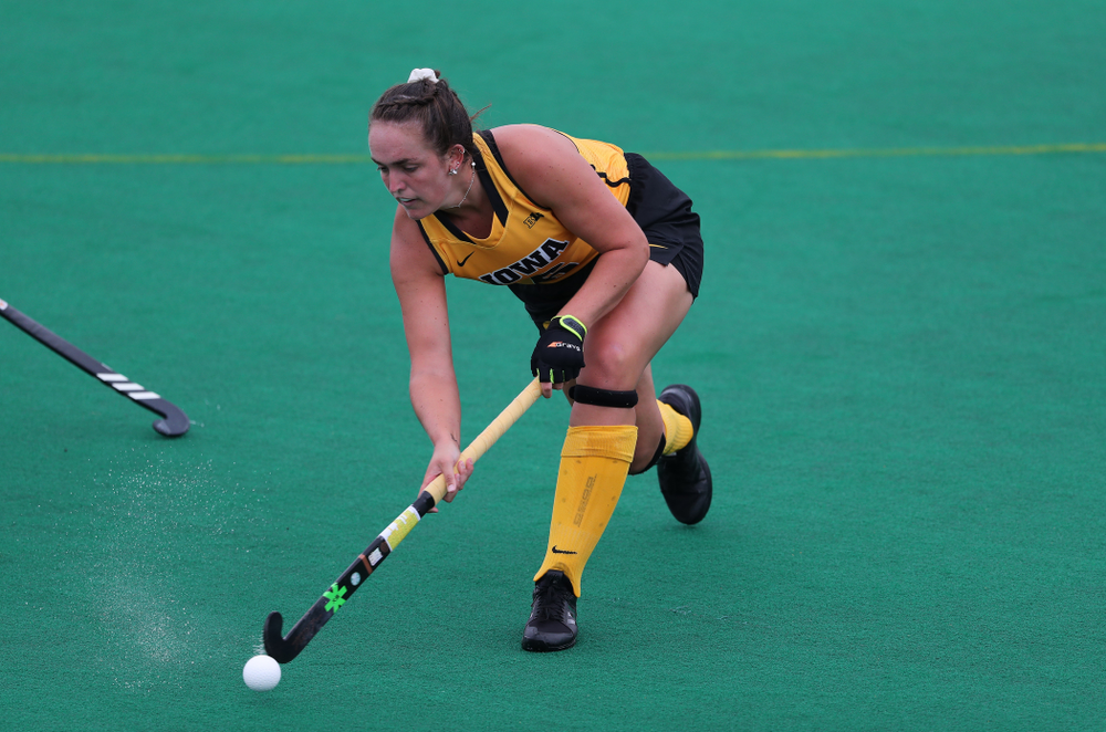 Iowa Hawkeyes defenseman Anthe Nijziel (6) against Columbia Sunday, September 8, 2019 at Grant Field. (Brian Ray/hawkeyesports.com)