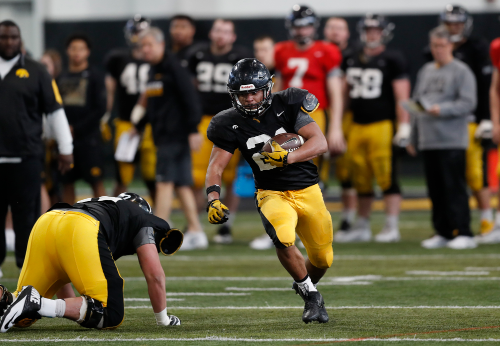 Iowa Hawkeyes running back Ivory Kelly-Martin (21) Wednesday, April 4, 2018 at the Hansen Football Performance Center. (Brian Ray/hawkeyesports.com)