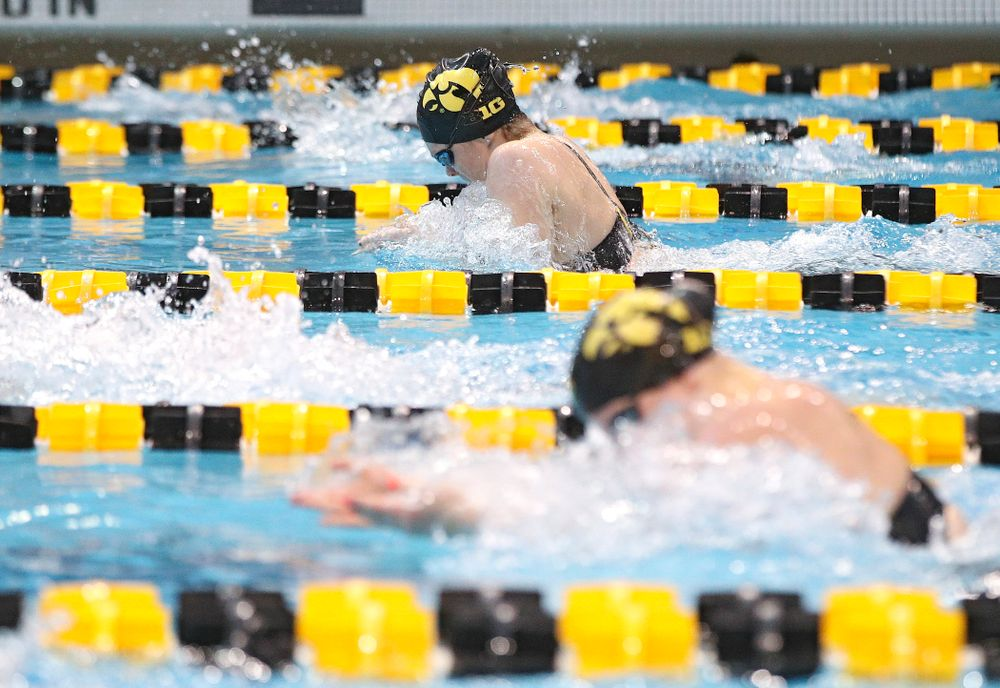 Iowa's Lexi Horner swims the women's 200 yard individual medley preliminary event during the 2020 Women's Big Ten Swimming and Diving Championships at the Campus Recreation and Wellness Center in Iowa City on Thursday, February 20, 2020. (Stephen Mally/hawkeyesports.com)
