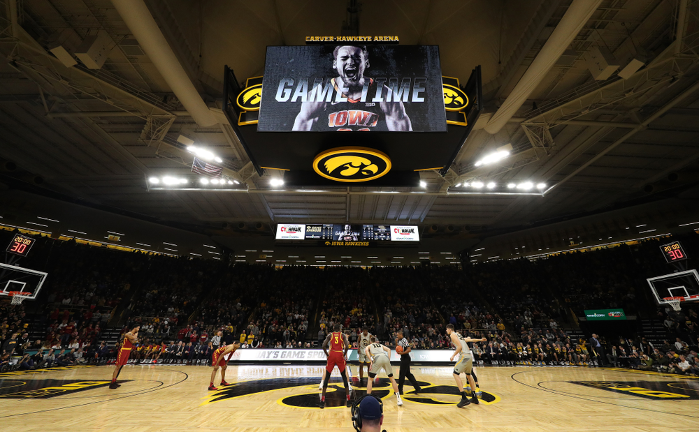 The Iowa Hawkeyes against the Iowa State Cyclones in the Iowa Corn Cy-Hawk Series Thursday, December 6, 2018 at Carver-Hawkeye Arena. (Brian Ray/hawkeyesports.com)