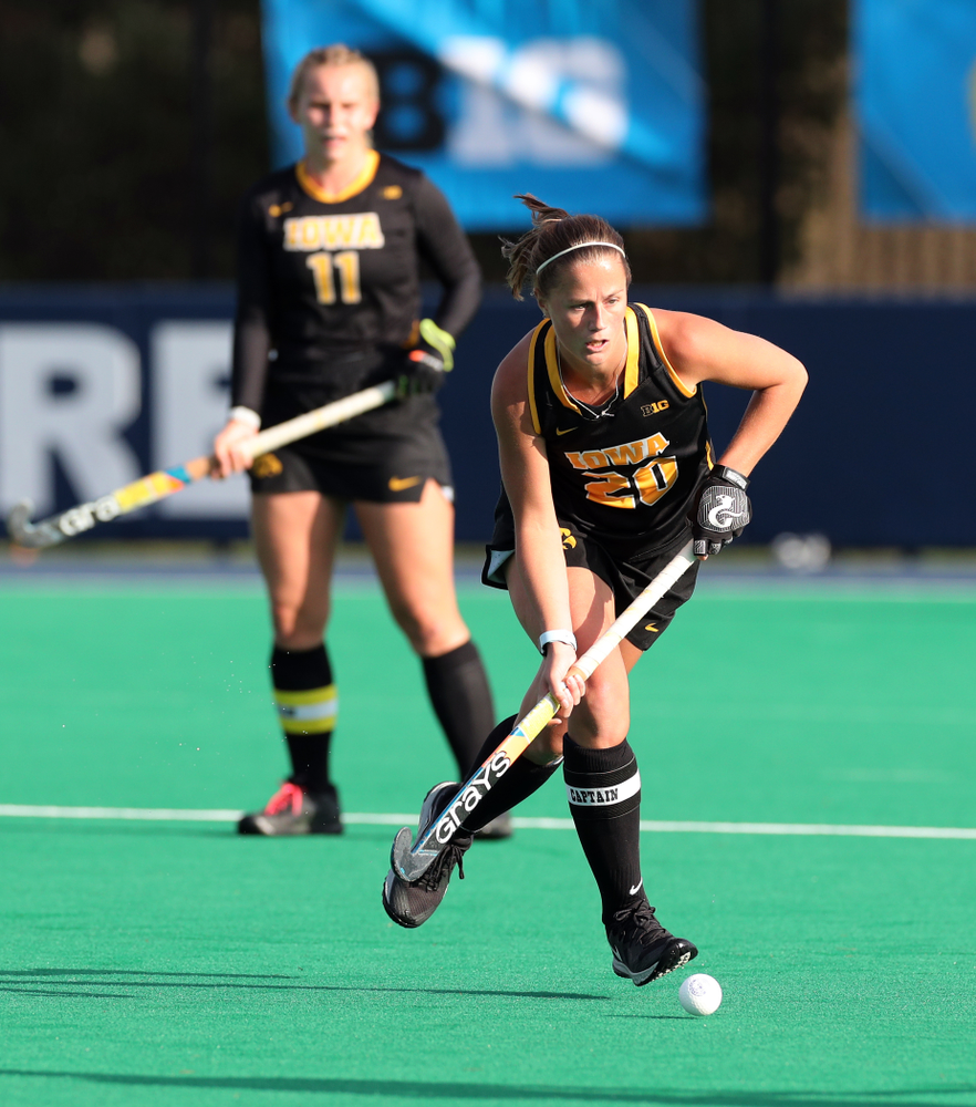 Iowa Hawkeyes Sophie Sunderland (20) against Penn State in the 2019 Big Ten Field Hockey Tournament Championship Game Sunday, November 10, 2019 in State College. (Brian Ray/hawkeyesports.com)