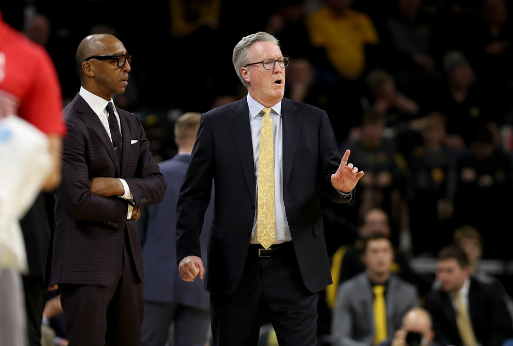 Iowa Hawkeyes head coach Fran McCaffery against the Maryland Terrapins Friday, January 10, 2020 at Carver-Hawkeye Arena. (Brian Ray/hawkeyesports.com)