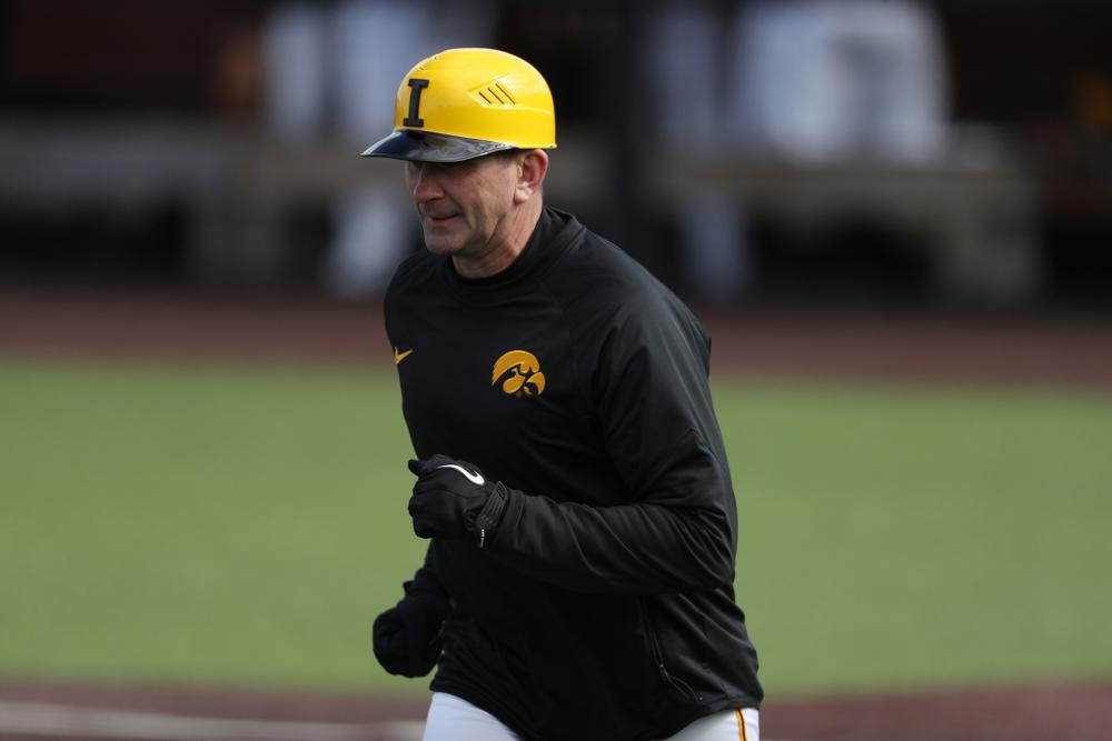 Iowa Hawkeyes Head Coach Rick Heller against California State Northridge Sunday, March 17, 2019 at Duane Banks Field. (Brian Ray/hawkeyesports.com)