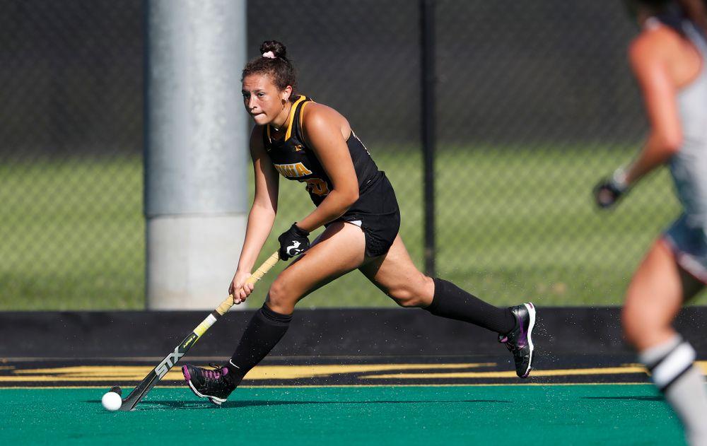 Iowa Hawkeyes Mya Christopher (18) against the Penn Quakers Friday, September 14, 2018 at Grant Field. (Brian Ray/hawkeyesports.com)