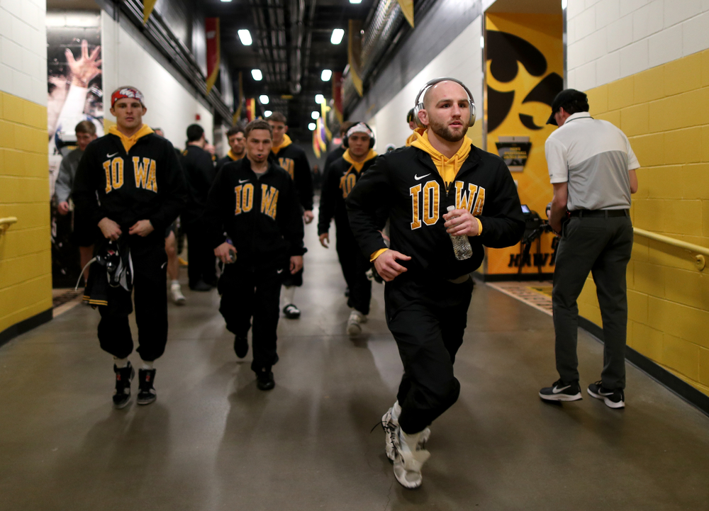Iowa Alex Marinelli before their meet against Penn State Friday, January 31, 2020 at Carver-Hawkeye Arena. (Brian Ray/hawkeyesports.com)