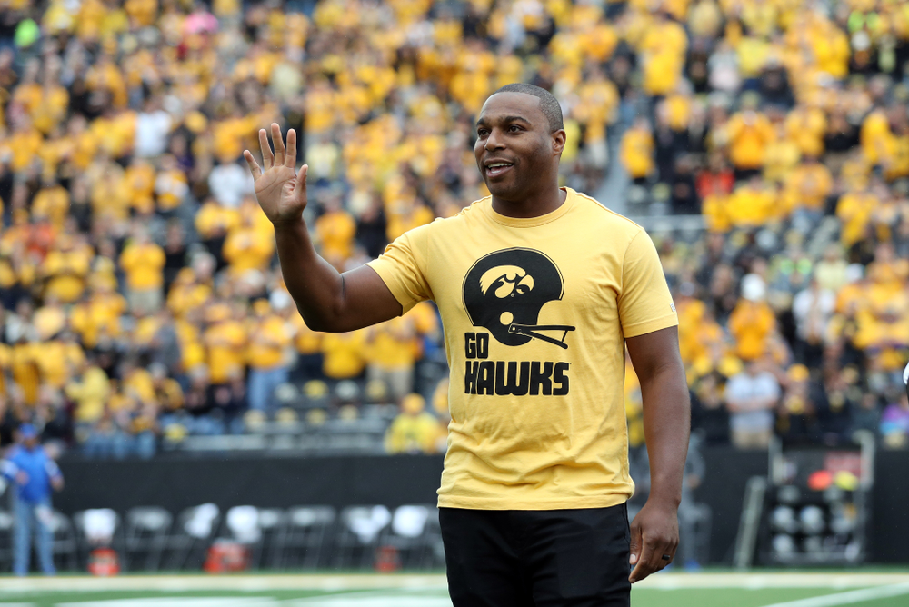 Honorary captain Miguel Merrick before the Iowa Hawkeyes game against Middle Tennessee State Saturday, September 28, 2019 at Kinnick Stadium. (Max Allen/hawkeyesports.com)