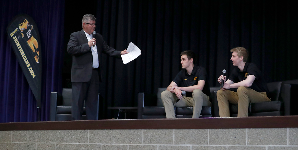 Gary Dolphin, Nicholas Baer, Michael Baer -- Hawkeye Fan Event at the Quad-Cities Waterfront Convention Center in Bettendorf, Iowa, on May 15, 2019.