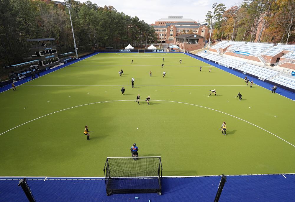 The Hawkeyes practice at Karen Shelton Stadium in Chapel Hill, N.C. on Saturday, Nov 16, 2019. (Stephen Mally/hawkeyesports.com)