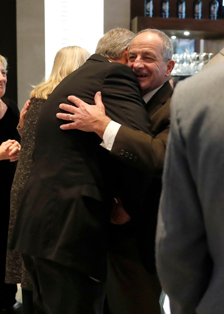 Kirk Ferentz, Jim Reid -- President's Welcome Reception at Yankees Steakhouse