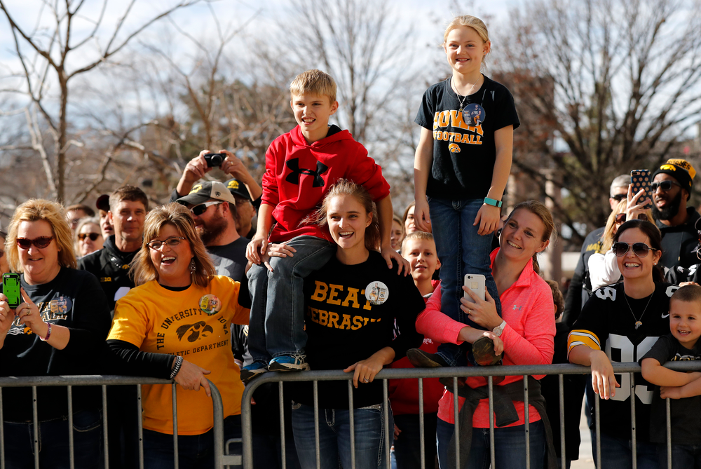 The family of Iowa Hawkeyes defensive lineman Nathan Bazata (99)