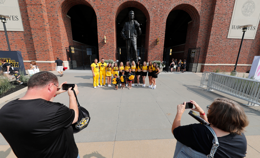 The Iowa Spirit Squad during Kids Day Saturday, August 11, 2018 at Kinnick Stadium. (Brian Ray/hawkeyesports.com)