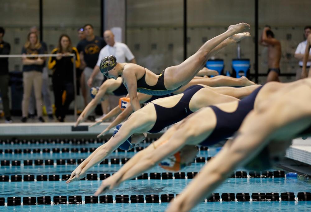Iowa's Mekenna Scheitlin swims the 50 yard freestyle