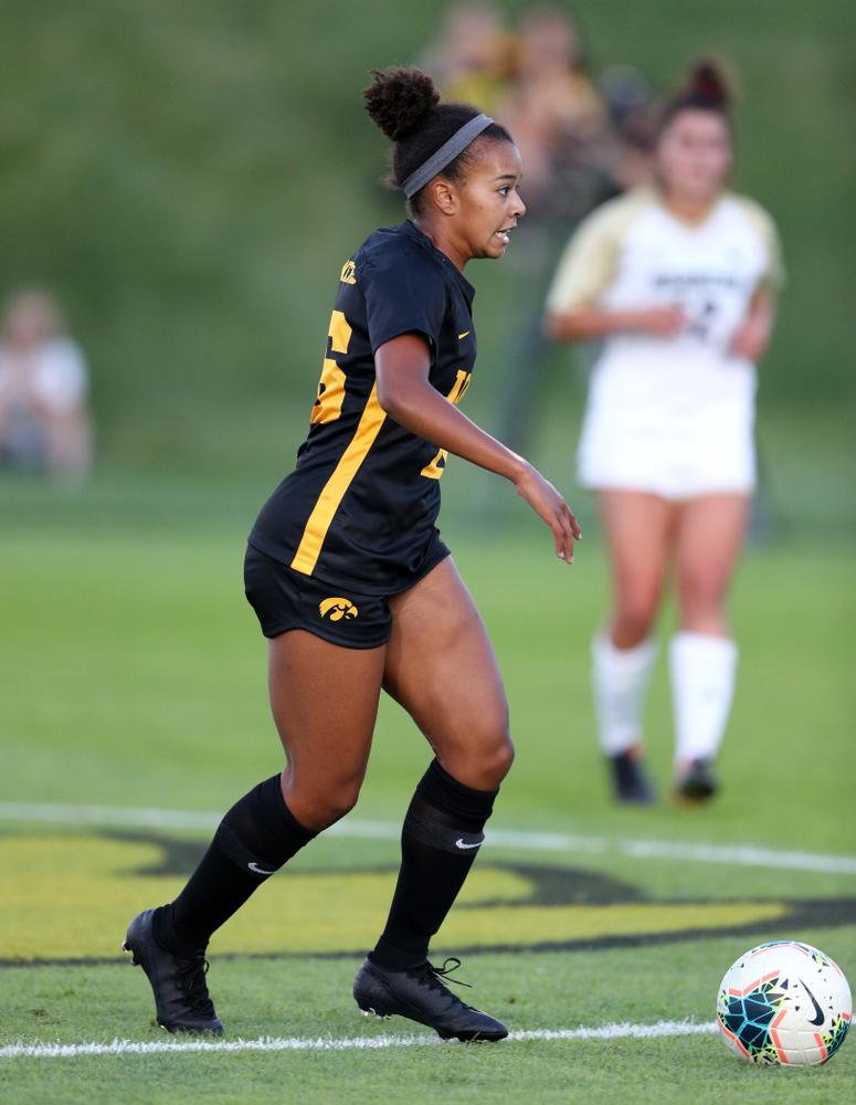 Iowa Hawkeyes midfielder/forward Melina Hegelheimer (26) against Western Michigan Thursday, August 22, 2019 at the Iowa Soccer Complex. (Brian Ray/hawkeyesports.com)