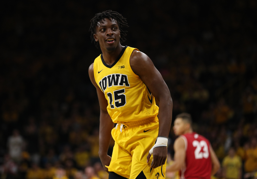 Iowa Hawkeyes forward Tyler Cook (25) against the Wisconsin Badgers Friday, November 30, 2018 at Carver-Hawkeye Arena. (Brian Ray/hawkeyesports.com)