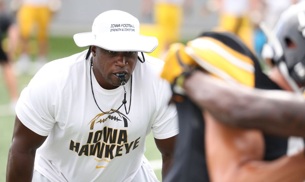 Iowa Hawkeyes wide receivers coach Kelton Copeland