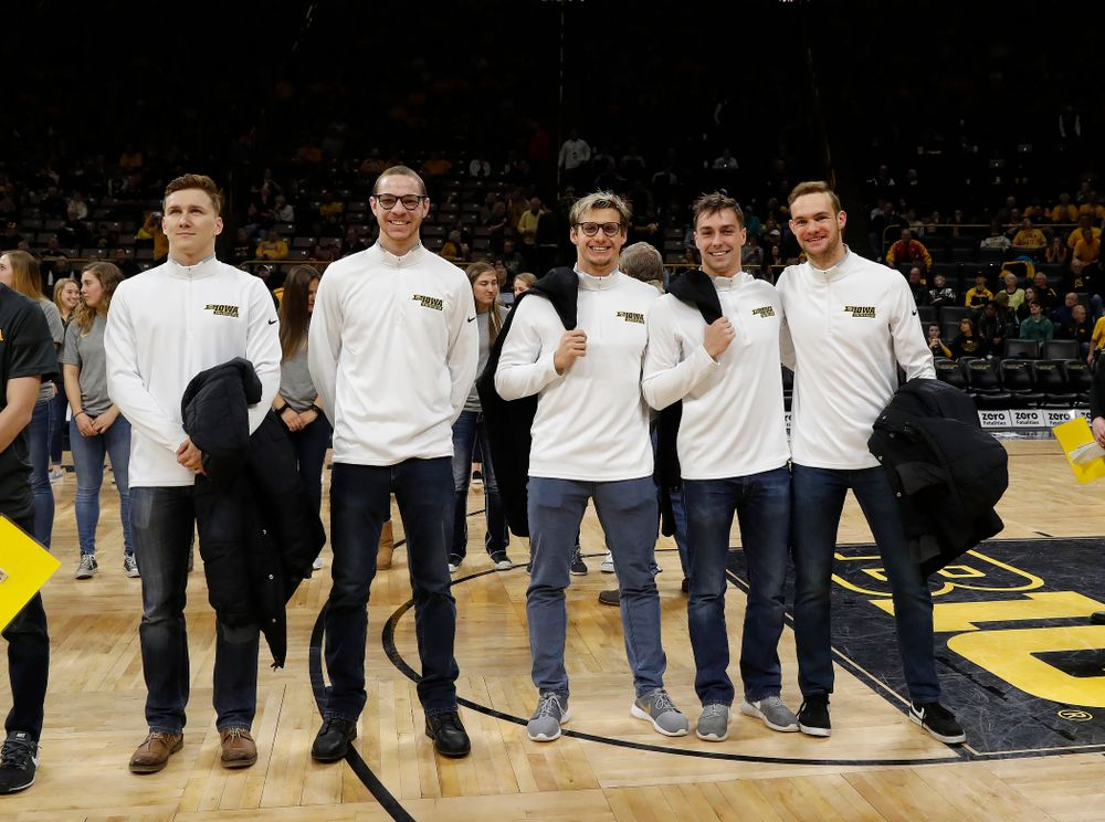 Iowa Men's Swimming during the PCA recognition