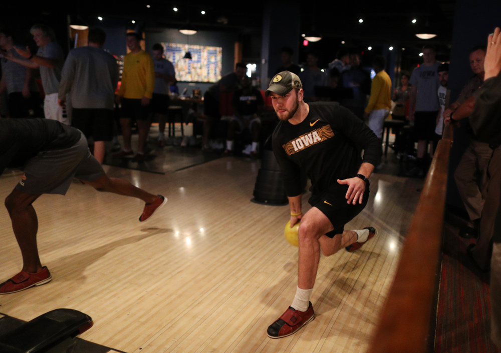 Iowa Hawkeyes punter Colten Rastetter (7) during the Players' Night at Splitsville Friday, December 28, 2018 in the Sparkman Wharf area of Tampa, FL.(Brian Ray/hawkeyesports.com)