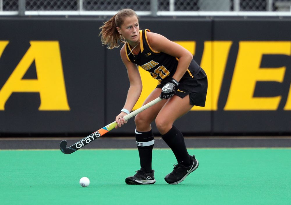 Iowa Hawkeyes Sophie Sunderland (20) during a 2-1 victory against the Ohio State Buckeyes Friday, September 27, 2019 at Grant Field. (Brian Ray/hawkeyesports.com)