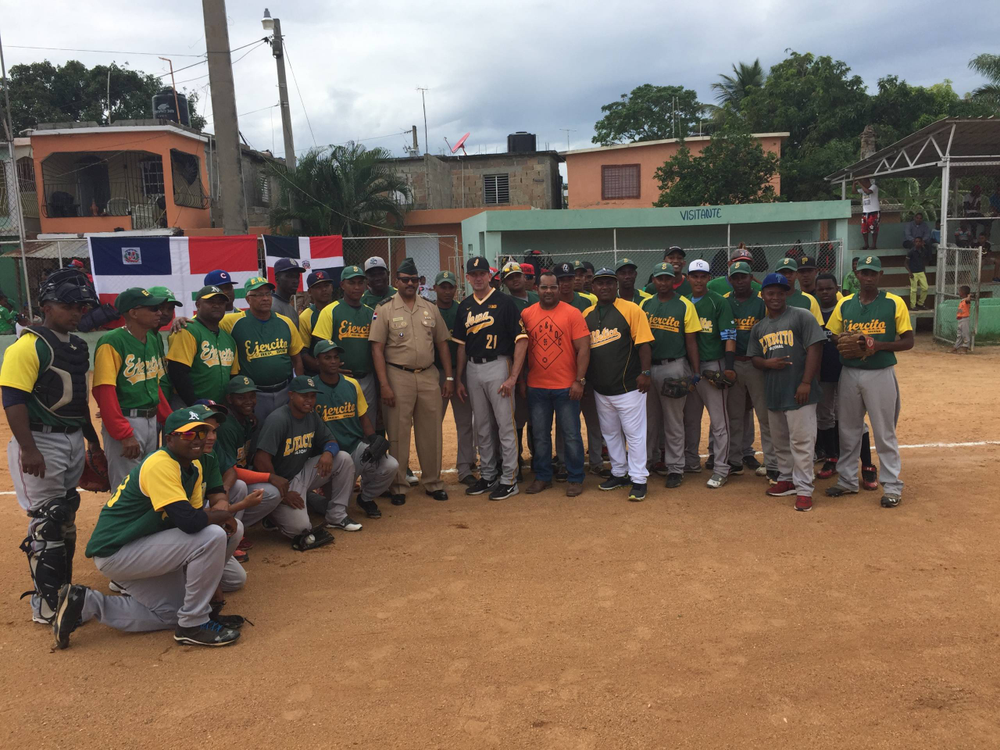 Rick Heller and President of Dominican National Army Team with DRNAT.