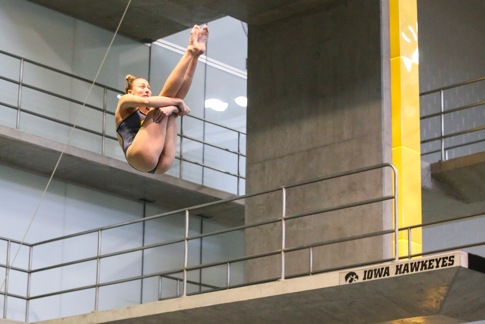 Sam Tamborski during Iowa women's swimming and diving vs Rutgers on Friday, November 8, 2019 at the Campus Wellness and Recreation Center. (Lily Smith/hawkeyesports.com)