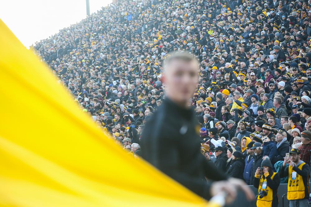 Iowa fans cheer during Iowa football vs Minnesota on Saturday, November 16, 2019 at Kinnick Stadium. (Lily Smith/hawkeyesports.com)