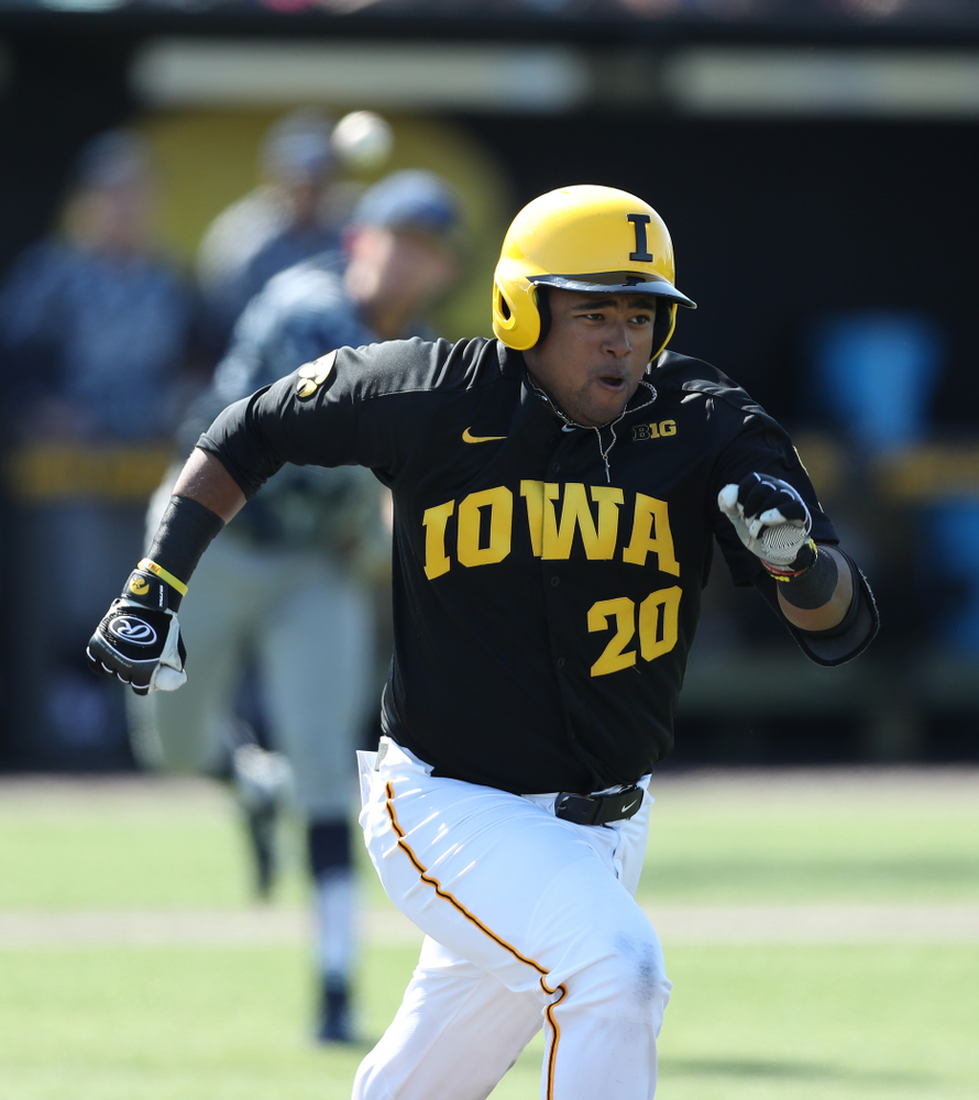 Iowa Hawkeyes Izaya Fullard (20) during game two against UC Irvine Saturday, May 4, 2019 at Duane Banks Field. (Brian Ray/hawkeyesports.com)