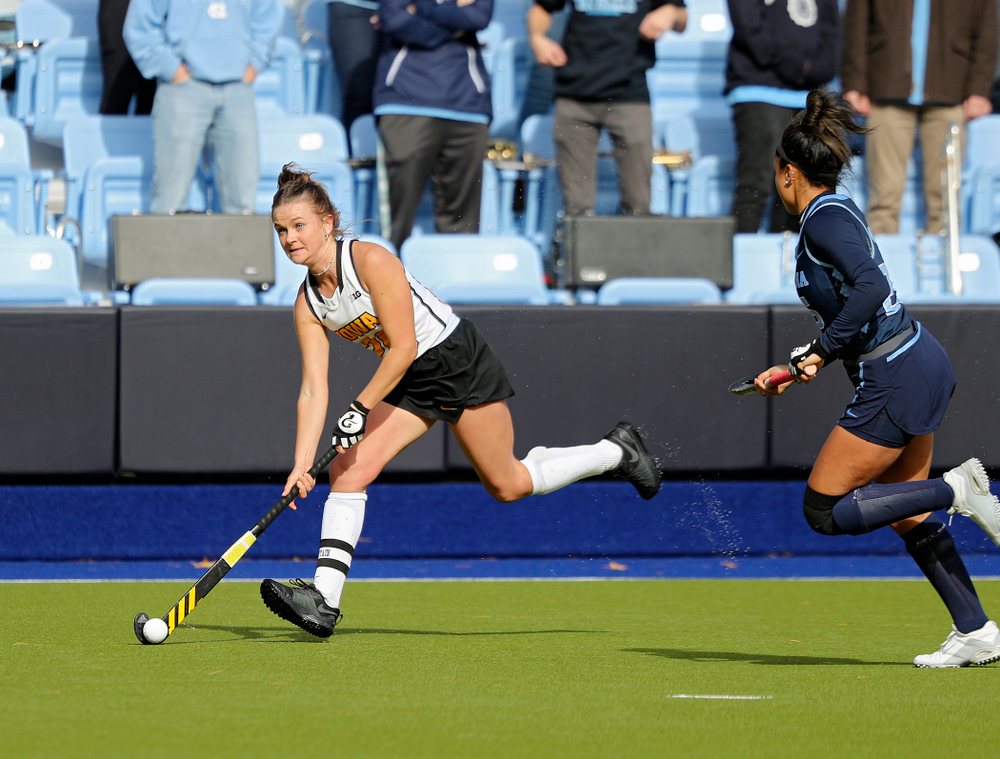 Iowa's Maddy Murphy (26) moves with the ball during the second quarter of their NCAA Tournament Second Round match against North Carolina at Karen Shelton Stadium in Chapel Hill, N.C. on Sunday, Nov 17, 2019. (Stephen Mally/hawkeyesports.com)