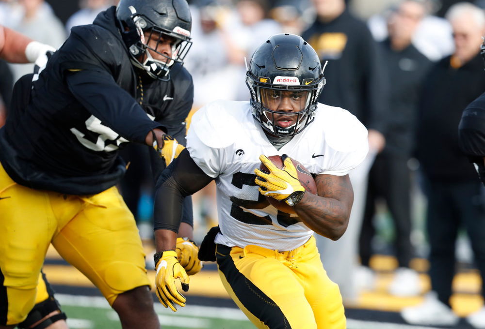 Iowa Hawkeyes running back James Butler (20)