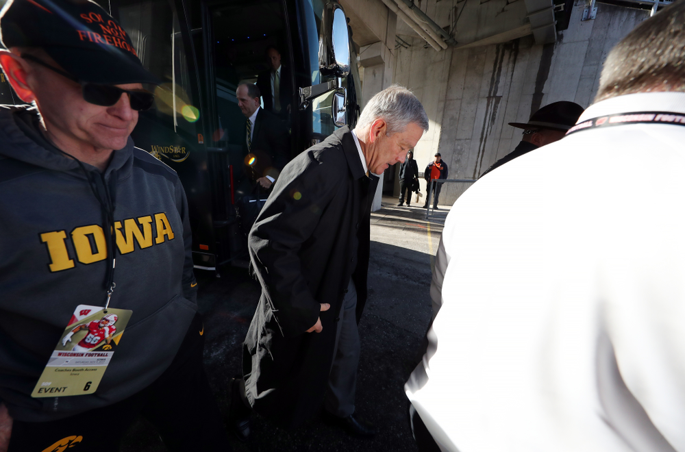 Iowa Hawkeyes head coach Kirk Ferentz against the Wisconsin Badgers Saturday, November 9, 2019 at Camp Randall Stadium in Madison, Wisc. (Brian Ray/hawkeyesports.com)